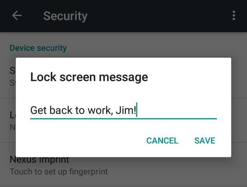 چگونه در اندروید 6 پیغامی در صفحه قفل قرار دهیم