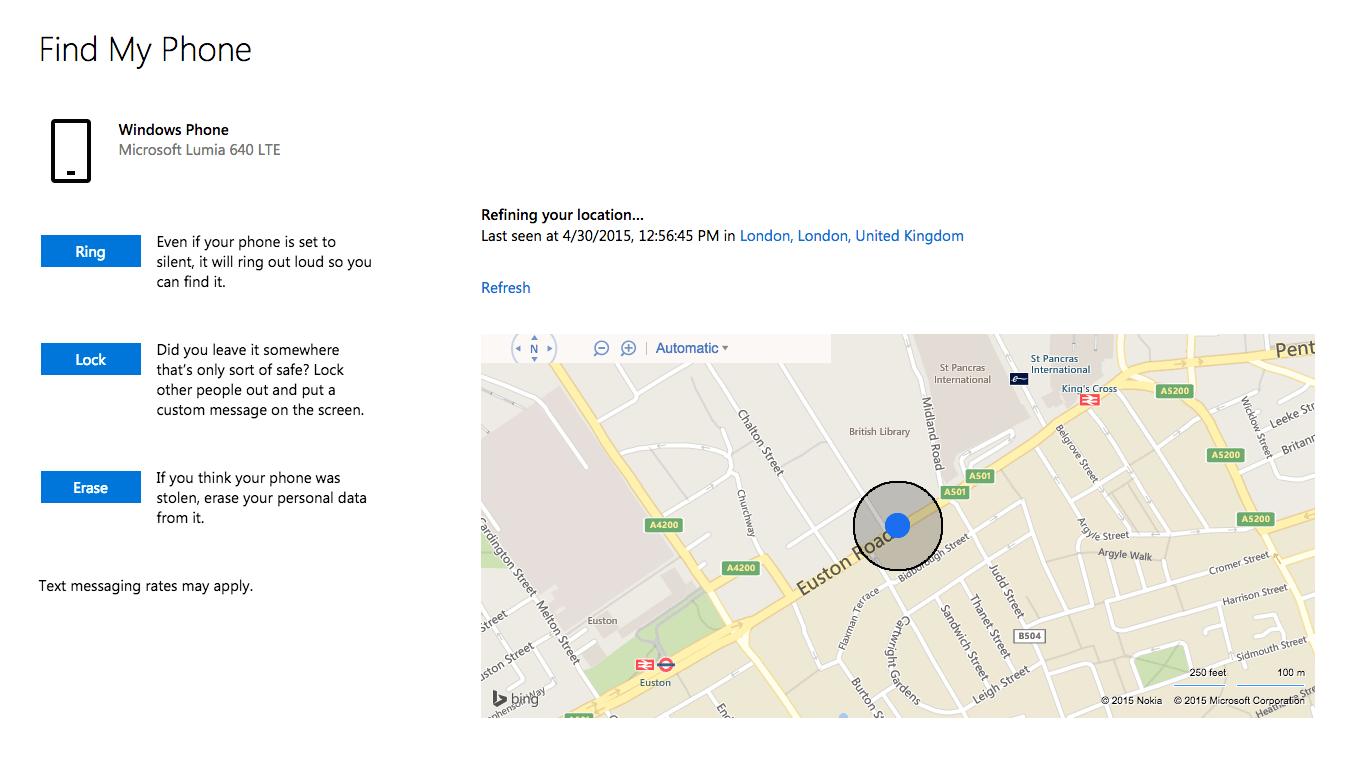 پیدا کردن موبایل ویندوزفون گم شده