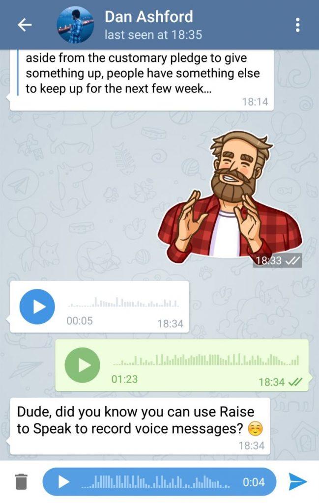پیام های صوتی ورژن 2.0 در تلگرام