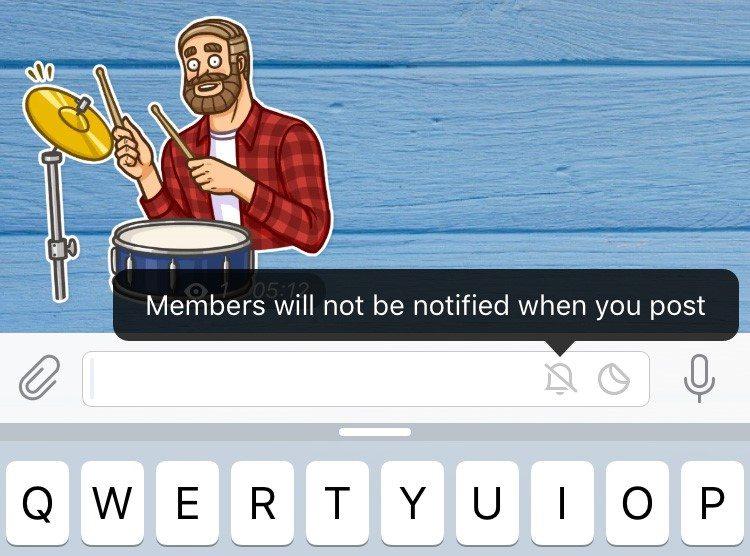 پیام های بی صدا برای اعضای کانال