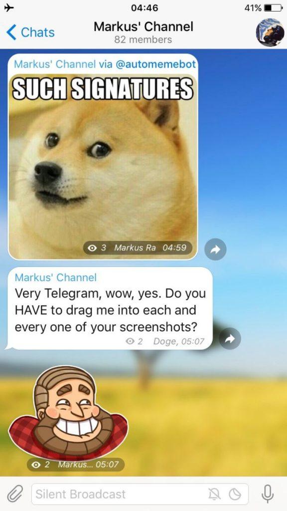 امضای ادمین در برای ادمین کانال تلگرام
