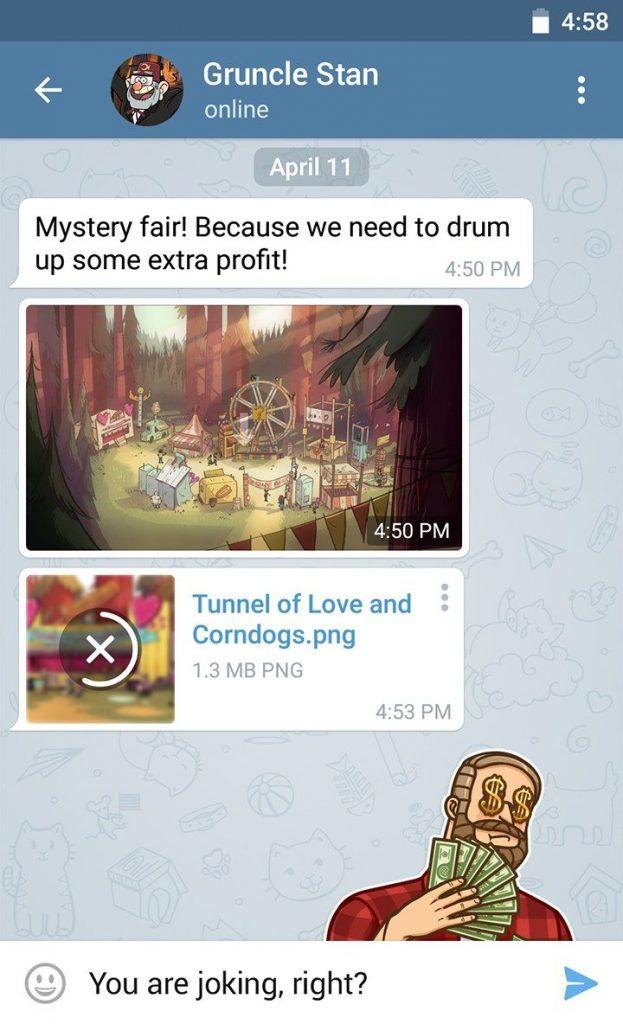 طراحی جدید در تلگرام