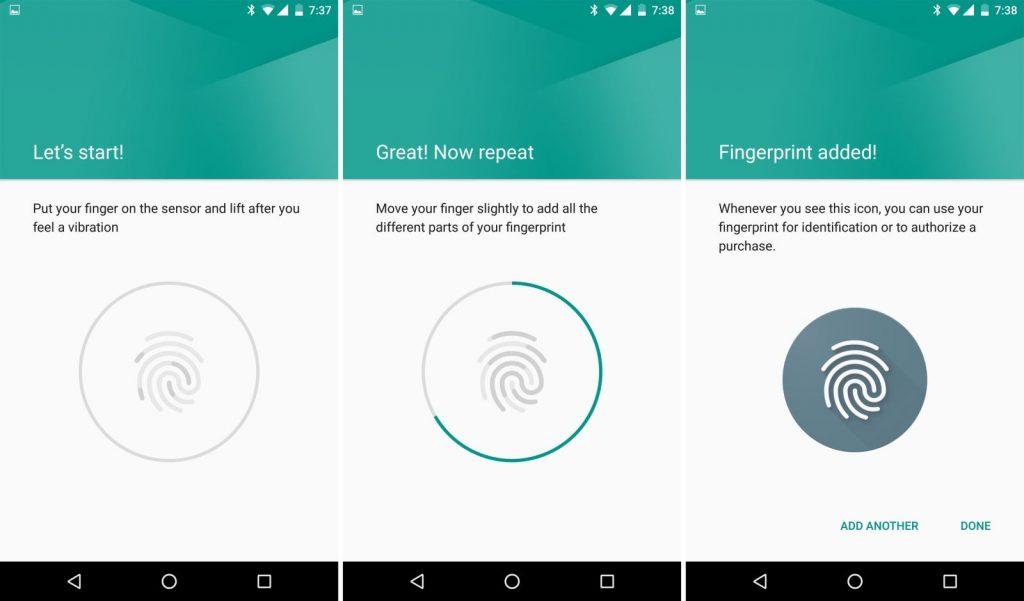 حسگر اثر انگشت در Nexus 5X و Nexus 6P
