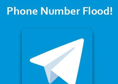 رفع مشکل Phone Number Flood در تلگرام