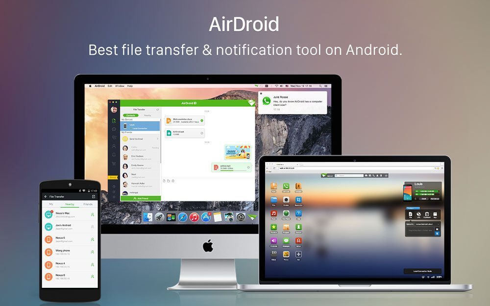 آموزش نرم افزار AirDroid