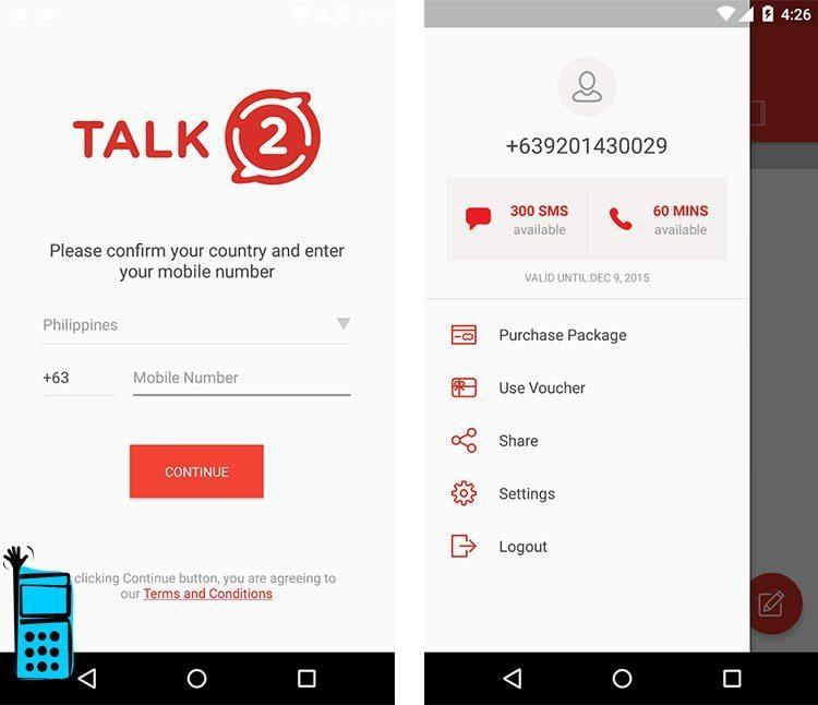 ساخت شماره مجازی با برنامه Talk2