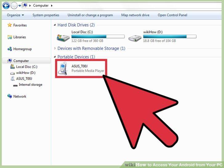 دسترسی به فایلهای اندروید از کامپیوتر