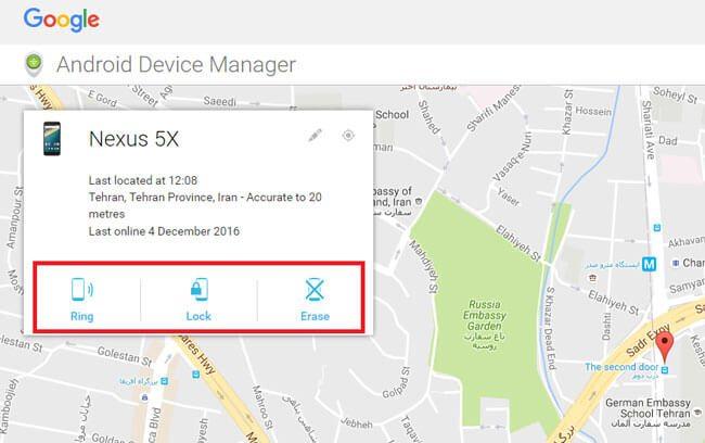 فعالسازی android device manager