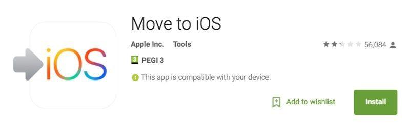 انتقال اطلاعات اندروید به آیفون android to iphone