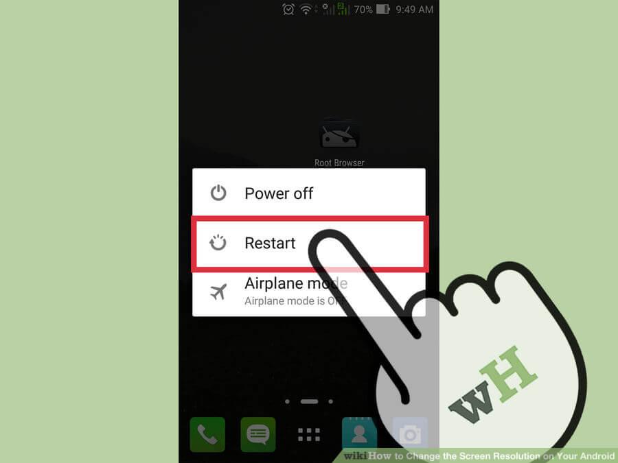 تغییر وضوح تصویر change screen resolution