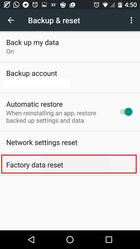 ریست کردن موبایلهای اندروید reset factory