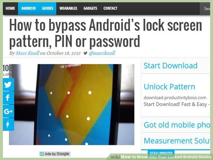 قفلگشایی رمز عبور دستگاه اندروید unlock android phone