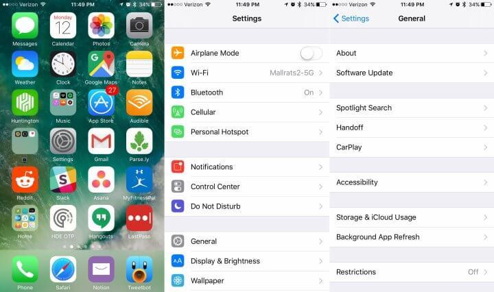 آموزش جامع نصب آپدیت آی او اس 10 (10 iOS) در آیفون