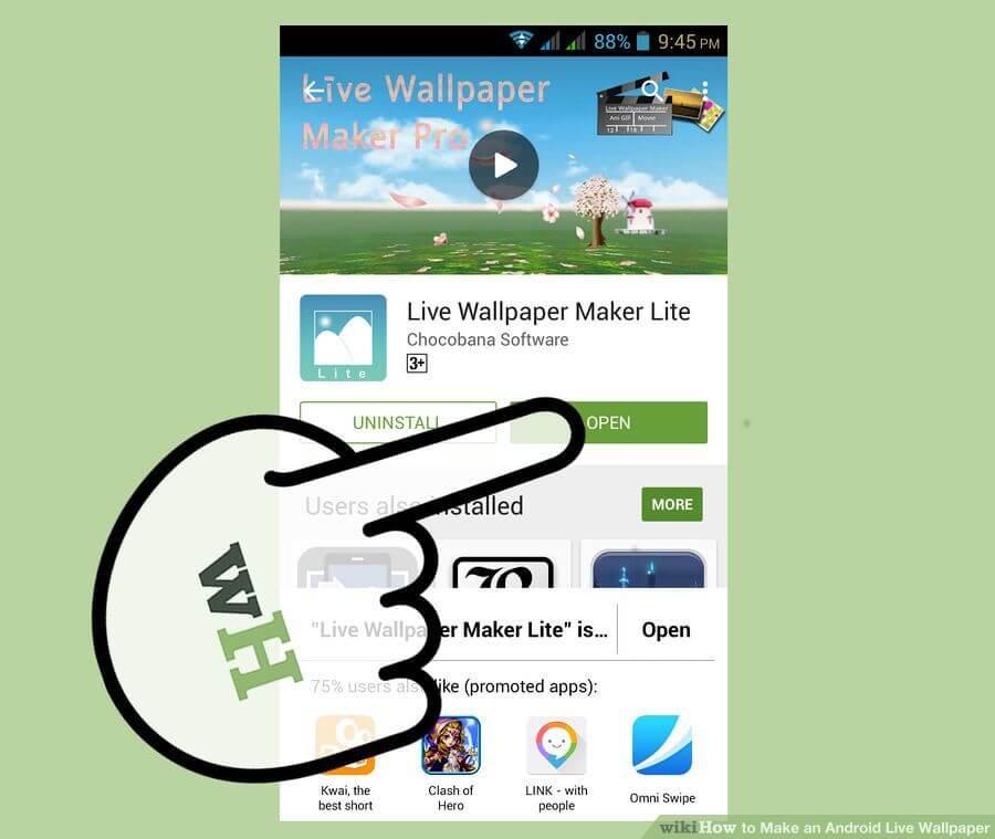 آموزش ساخت لایو والپیپر make live wallpaper