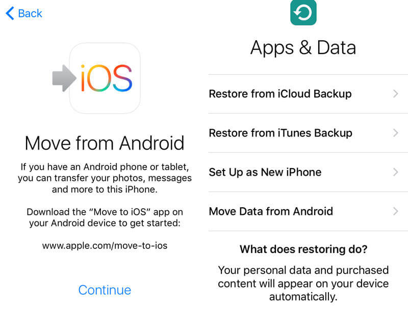 آموزش انتقال اطلاعات اندروید به آیفون android to iphone