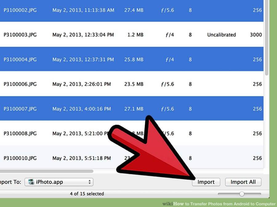 انتقال فایل تصویری از دستگاههای اندرویدی transfer android photos