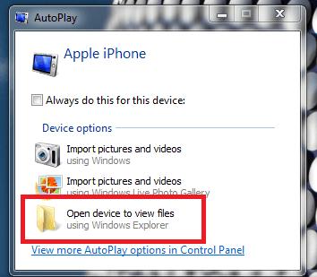 انتقال فایلهای تصویری از آیفون به کامپیوتر