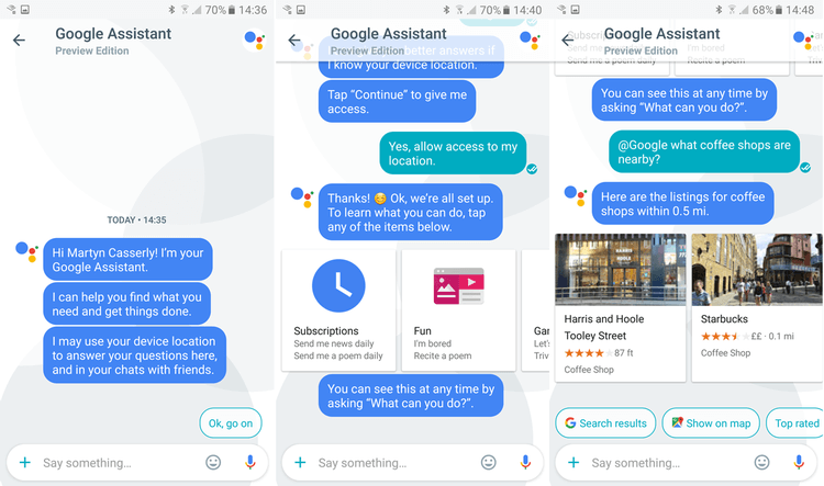 برنامه Google Allo