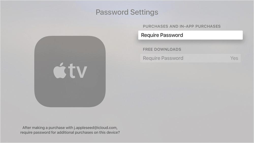 مدیریت رمز عبور اپل استور و iTunes در آیفون، آیپد و اپل تیوی