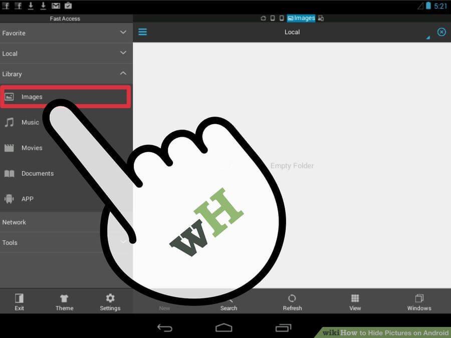 آموزش مخفی کردن عکسهای اندروید hide android photo