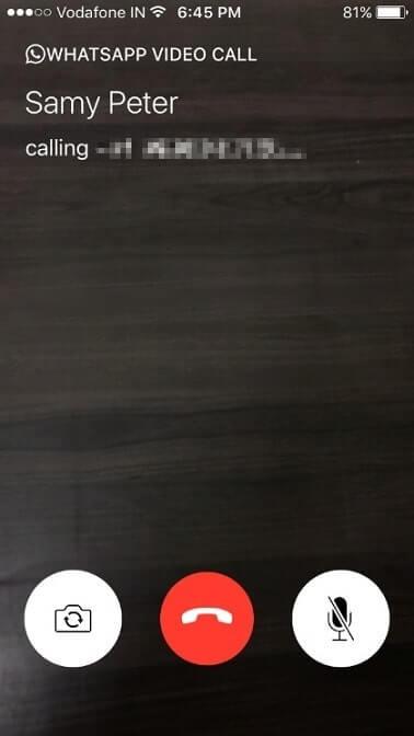 تماس تصویری واتس اپ در آیفون
