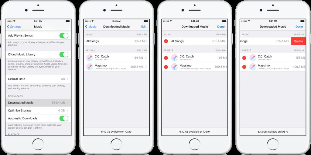 حذف آهنگ های دانلود شده در اپل موزیک آیفون