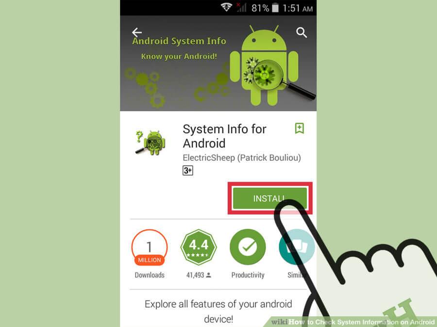 بدست آوردن اطلاعات سیستمی اندروید android system information