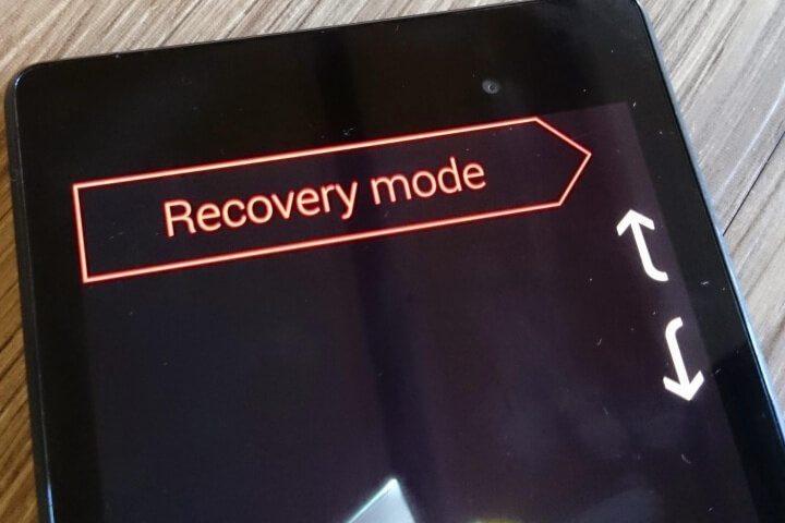 ورود به حالت ریکاوری recovery mode