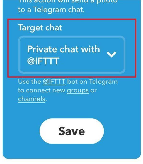 قابلیت IFTTT تلگرام