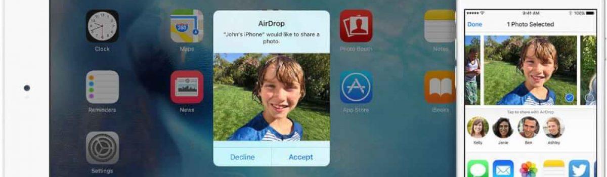 آموزش فعال سازی و استفاده از قابلیت ایردراپ (AirDrop) اپل