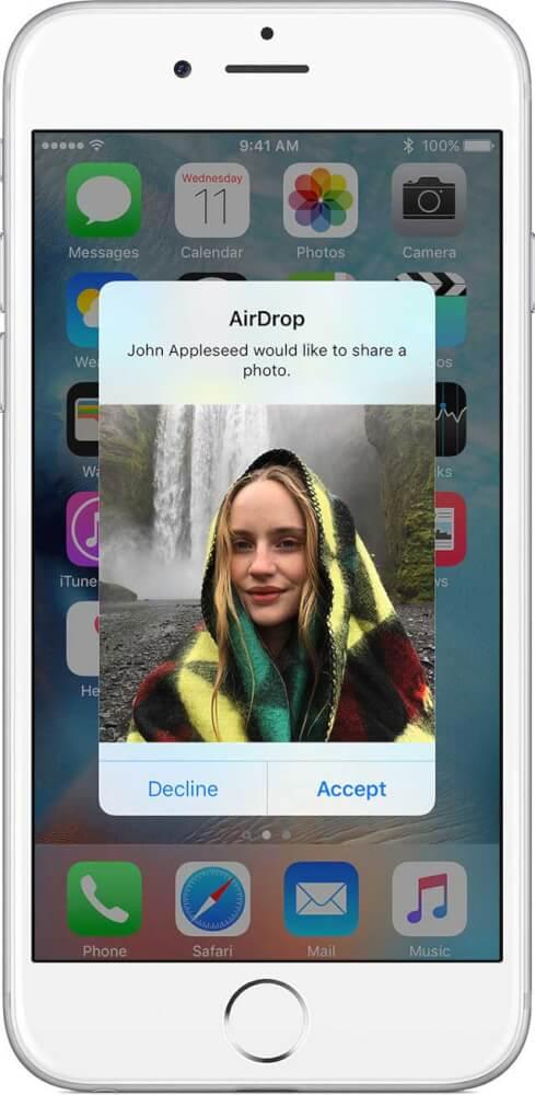 فعال سازی ایردراپ (AirDrop)