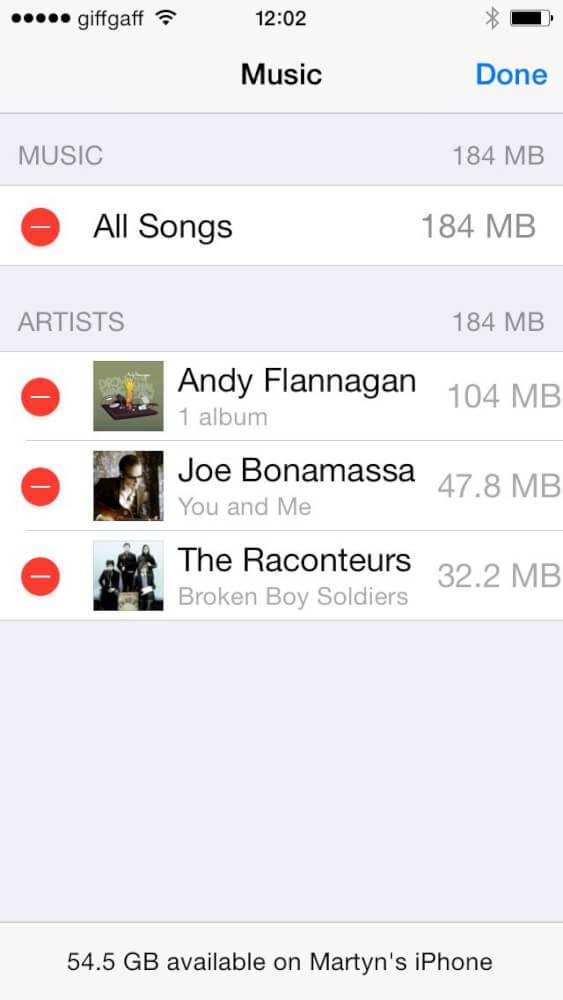 روشهای حذف فایل موزیک یا اصطلاحا آهنگ از حافظه آیفون