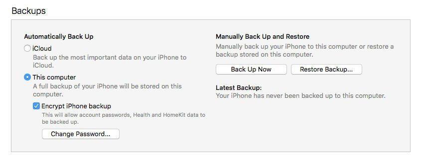 تهیه بک آپ از محتوای آیفون و آیپدهای اپل