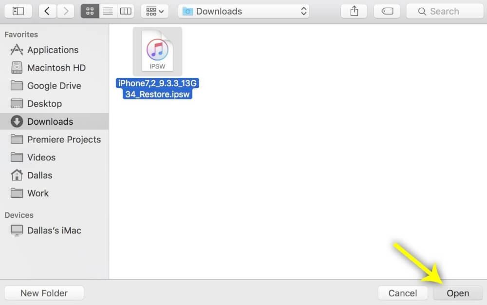 آموزش دانگرید سیستم عامل آیفون از آی او اس 10 به آی او اس 9.3