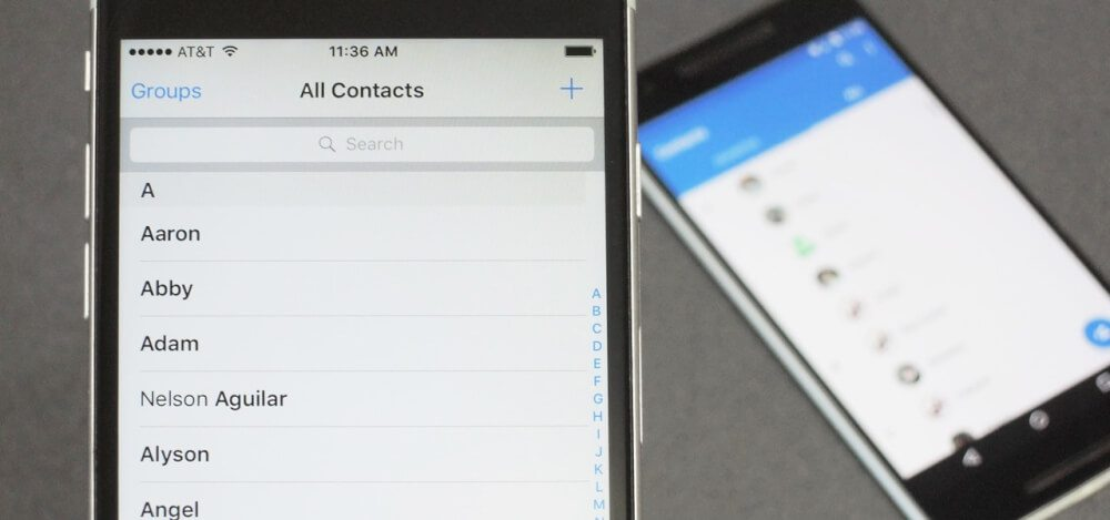 آموزش انتقال لیست مخاطبین از دستگاه اندروید به آیفون