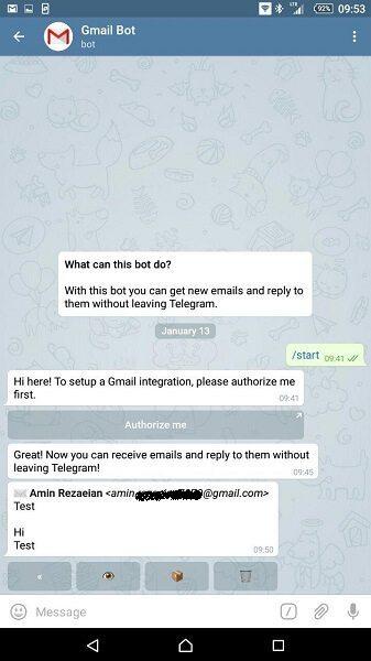 ربات جیمیل تلگرام (GmailBot)