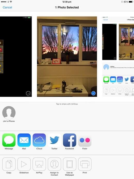 ارسال وایرلس عکس از آیفون به آیفون