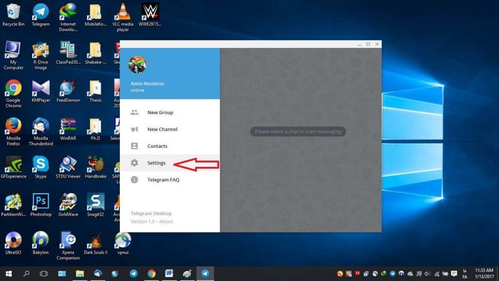 ساخت تم برای دسکتاپ تلگرام
