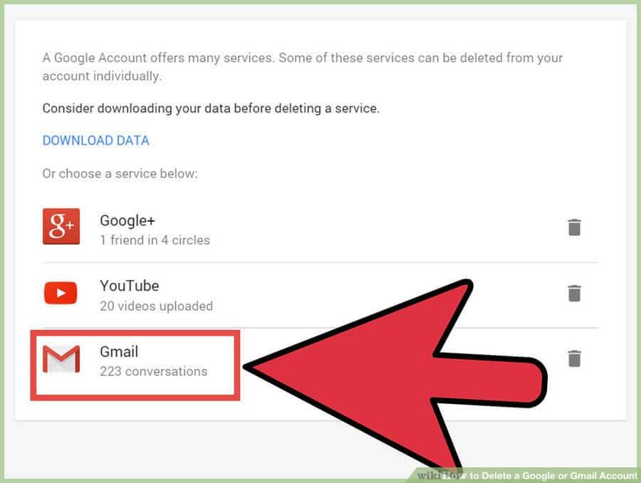حذف اکانت گوگل Google Account و جیمیل (Gmail)