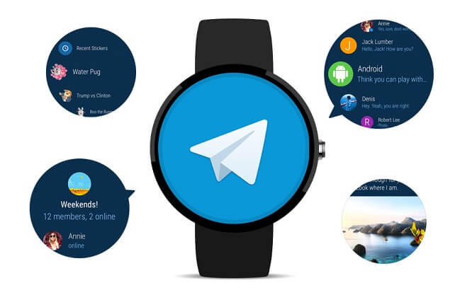 استفاده از تلگرام در ساعت هوشمند