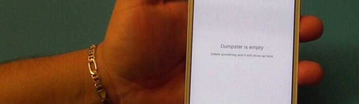 بازیابی فایل های حذف شده گوشی با برنامه Dumpster