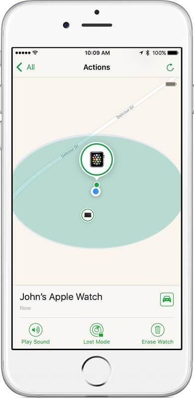ردیابی اپل واچ