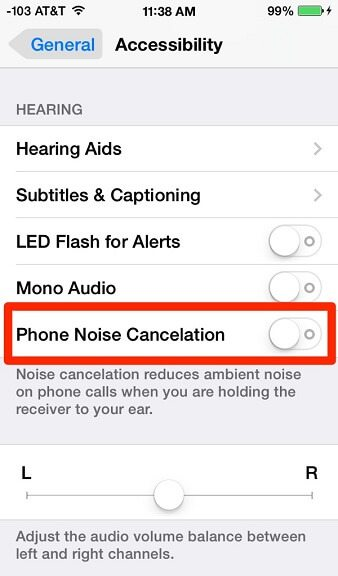 کاهش نویز آیفون در تماس ها (Noise Cancellation)