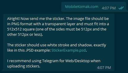 آمورش ساخت استیکر تلگرام