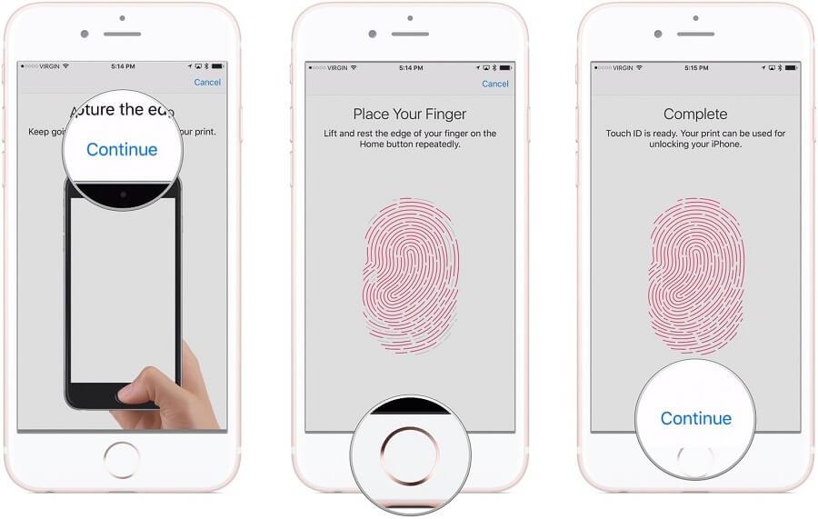 سنسور اثر انگشت آیفون یا تاچ آیدی (Touch ID)