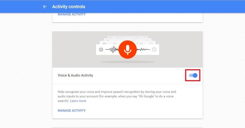 حذف آرشیو فایل های صوتی اکانت گوگل