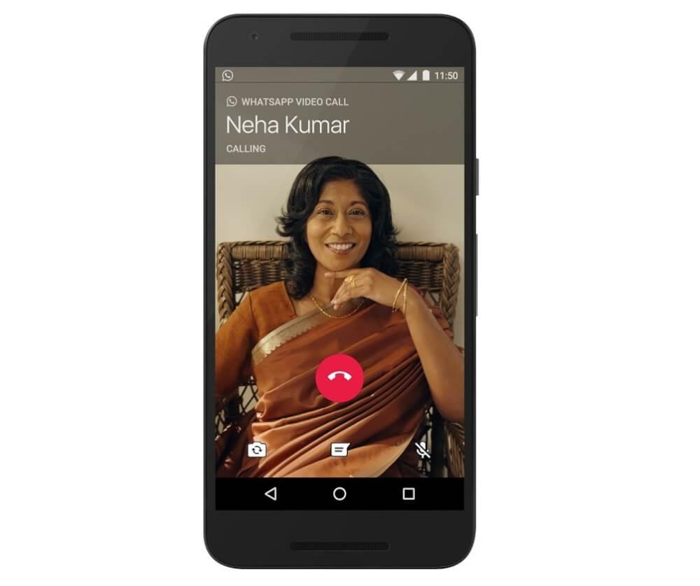 آموزش برقراری تماس ویدیویی در واتساپ اندرویدی