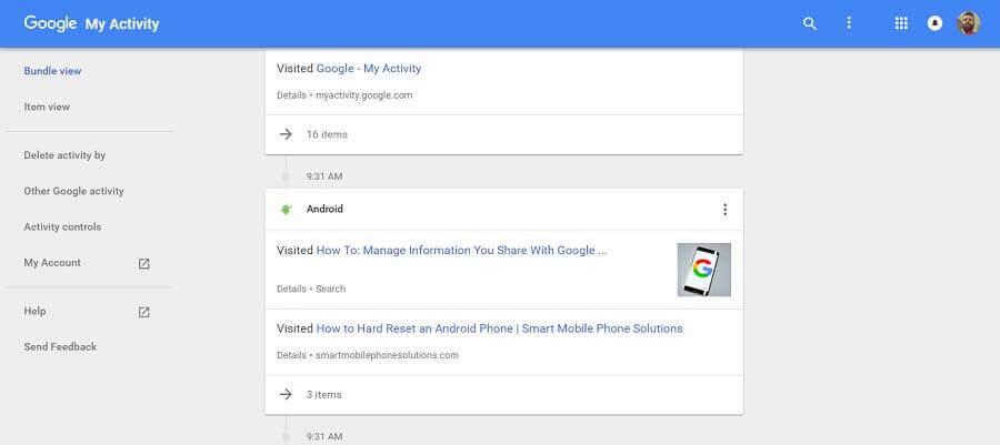 حذف آرشیو فعالیت ها از اکانت گوگل و تغییر تاپیک های مورد علاقه کاربر