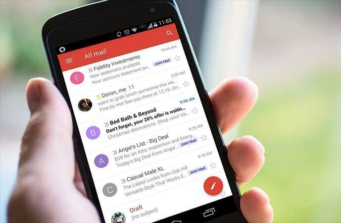اضافه کردن اکانت به برنامه Gmail