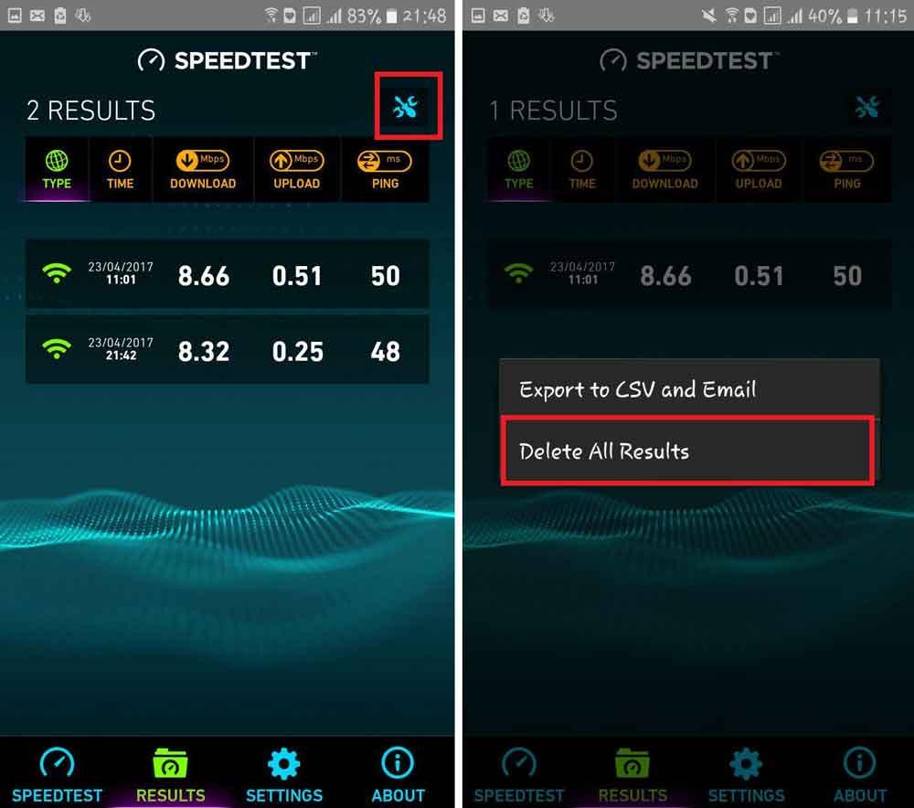 بررسی برنامه Speedtest